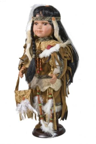 """Игрушки и куклы Куклы Фарфоровые куклы: Фарфоровая кукла  """"Индианка """" ."""